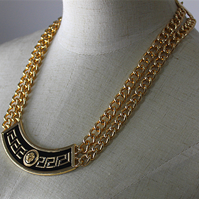 Selling high punk wind popular romantic girl gifts wholesale gold-plated pendant necklace! Free shipping!