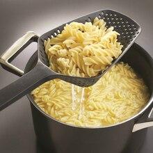 Новое поступление черная нейлоновая лопатка для макарон Ситечко Дуршлаг кухонная техника инструменты для приготовления пищи