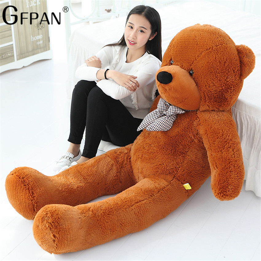 1PC 80/200cm Giant Size Classic Teddy Bear Plush Skin High Quality Low Price Bear Coat Birthday Gift Valentine Gift For Girls