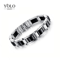 Mens Therapy Bracelet 2019Fashion Stainless Steel Magnetic Hematite Bracelet with Magnets GermaniumPain Relief for Arthritis
