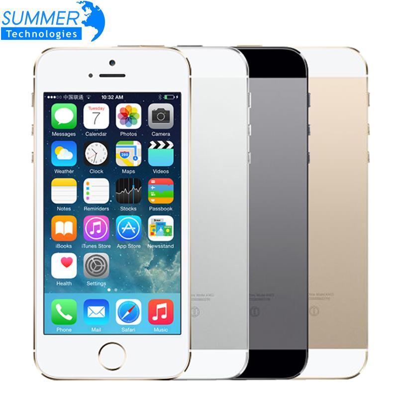 Original Débloqué Apple iPhone 5S Téléphone Portable iOS A7 4.0 8MP IPS HD GPS 16 gb 32 gb ROM téléphone Portable d'occasion