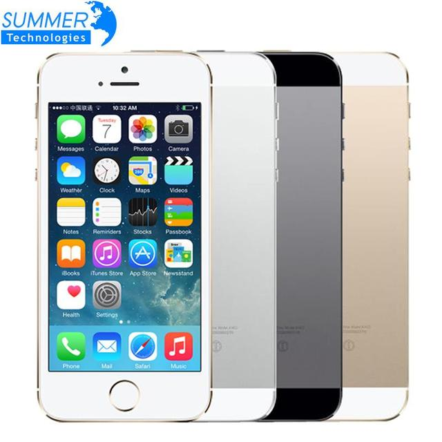 "Original Unlocked Apple iPhone 5S Mobile Phone iOS A7 4.0"" 8MP IPS HD GPS 16GB 32GB ROM Used Cell Phone"