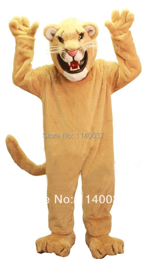 mascot Golden Cougar Mascot Costume Adult Size Lion Cat Mascotte Mascota Outfit Suit Fancy Dress Party Cosply Costume