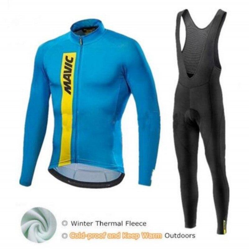 Maglia ciclismo new Mavic cycling jersey set ropa ciclismo bicicleta panno morbido di Inverno termico abbigliamento ciclismo MTB bike jersey