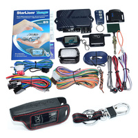 Starlionr Russian Version B9 Remote Engine Star 2 Way Auto Car Alarm System With Starlionr B9