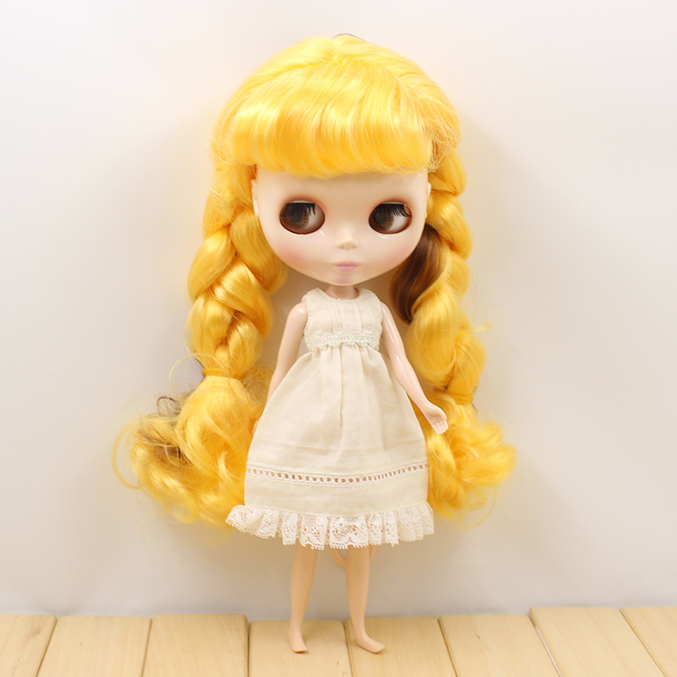 все цены на Nude Blyth doll yellow long hair 12'' fashion dolls blyth dolls for girls gifts
