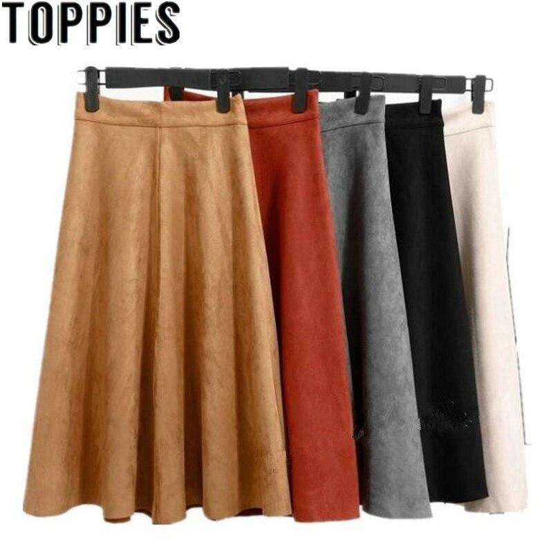 Toppies Frauen 2018 Hohe Taille Faux Leder Rock Helle Gelb Schwarz Einfarbig PU Röcke