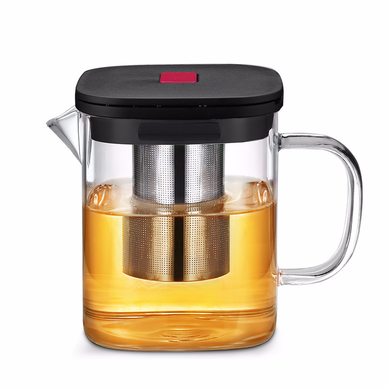 Image 5 - 2Sizes Square Glass Teapot Good Clear Borosilicat With 304 Stainless Steel Infuser Strainer Heat Tea coffee Pot Set Kettle ToolTeapots   -