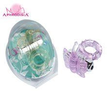 APHRODISIA Cock Rings Vibrator Men's 7-frequency  Prolong Strong Stimuluation Vibration Honey Bees Style  Adult Sex Toys HC32008