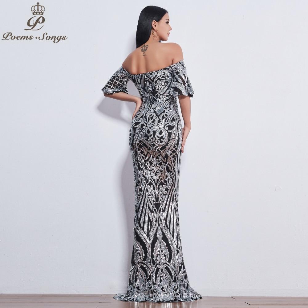 Poèmes chansons nouveau Style élégant luxe robes de soirée longue vestido de festa longo robe de bal robe de soirée robes de soirée - 4