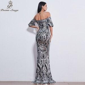 Image 3 - Poems Songs New Style elegant luxury Evening dresses long vestido de festa longo prom dress robe de soiree evening gowns