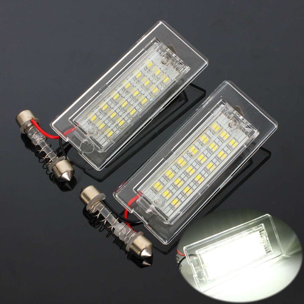 Led waterproof number white license plate light lamps obc error free 18 led for bmw x3