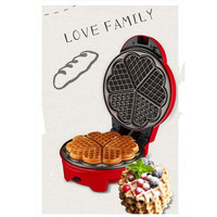 220V Red Color Electric Cake Maker Machine 8 Optional Plates Multifunctional DIY Heart Shape Cake Waffle