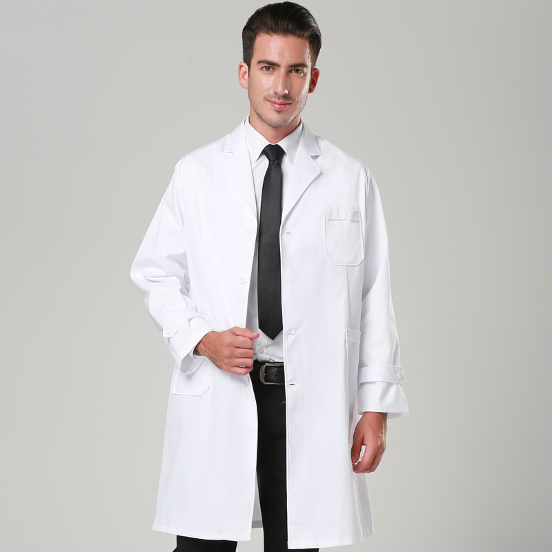 Doctor&nurse Uniform Scrub White Coat Medical Gown/clothes Uniforme Medico Mujer Long/short Sleeve Hospital Laboratory Suit Men