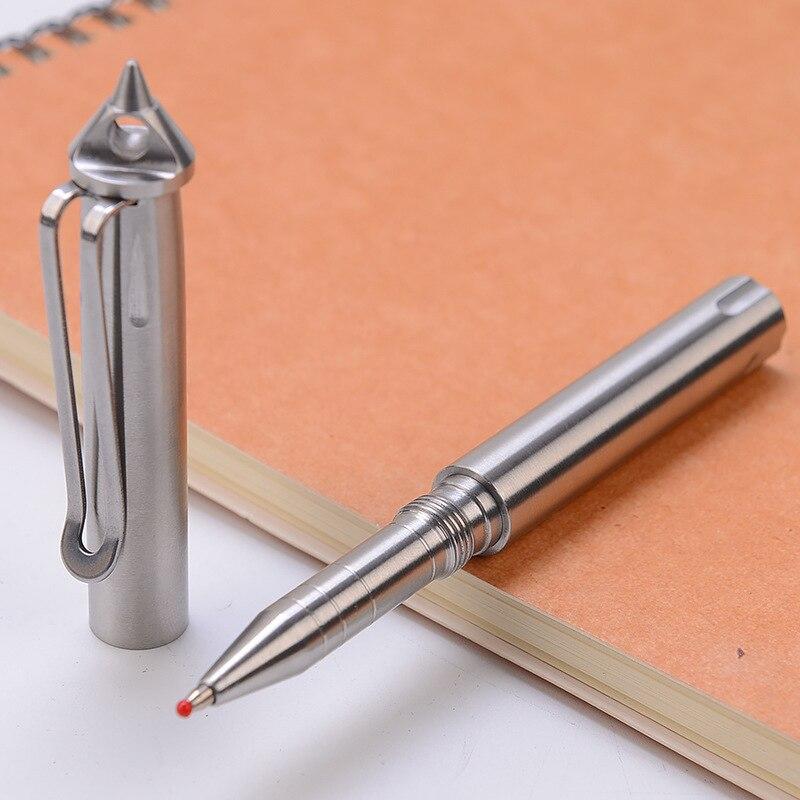 NewTactical Pen Self-defense Pen Stainless Steel Defense Supplies Outdoor Emergency Glass Breaker Tool 3 Replaceable Attack Head