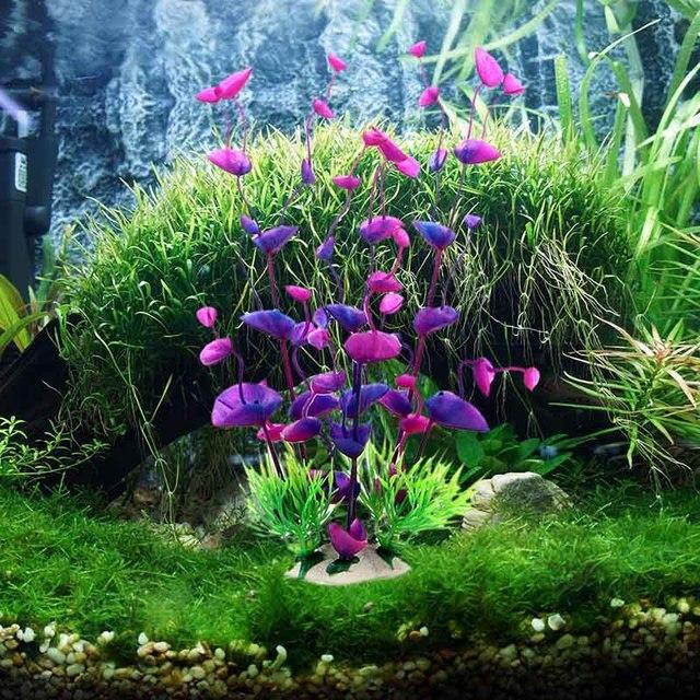 fish tank artificial plants aquarium decoration green plastic