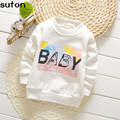 2017 Autumn Winter Baby Boy Girl T-shirt New Cotton Velvet Thickening Warm Long-sleeved Printed T-shirt Kid Clothes Fashion Gift