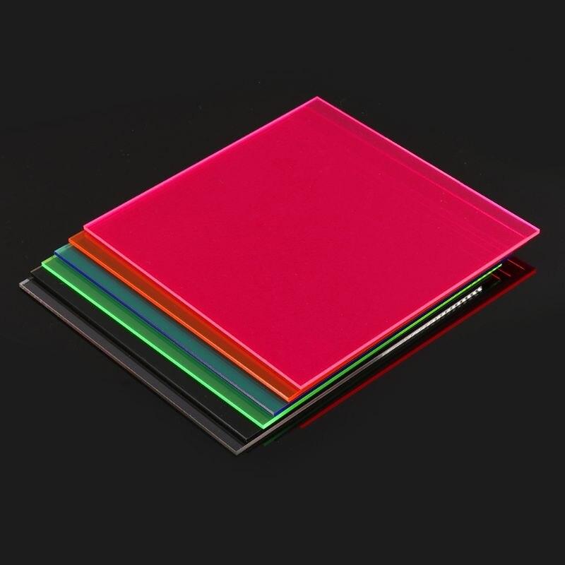 15*15cm Plexiglass Board Colored Acrylic Sheet DIY Toy Accessories Model Making