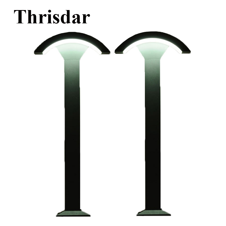 Thrisdar 2PCS 60CM 80CM Outdoor Garden Landscape Lawn Light Waterproof Villa Post Lawn Bollard Light Pathway Pillar Lawn Lamp villa lawn lamp post light garden pathway 220v 110v outdoor landscape lighting decoration waterproof lights for the garden