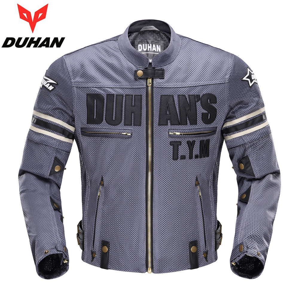 Summer Motorcycle Jacket DUHAN mesh cloth motorbike racing net jacket breathable motocross clothes with protectors scoyco motorcycle motorbike touring riding jacket motocross off road racing jacket breathable clothing with 7 pieces protectors