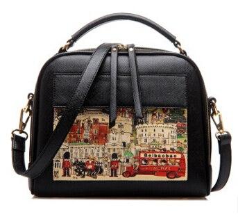 Летящие птицы! Женская кожаная сумка известных брендов, женские сумки-мессенджеры, женская сумка-мешок, высокое качество, женская сумка LS8235fb - Цвет: big black handbag