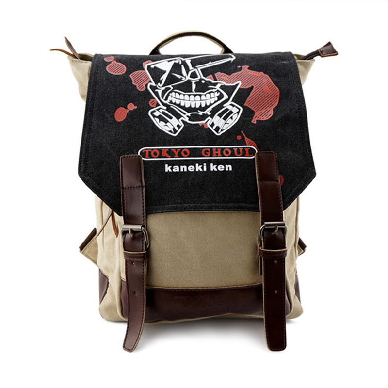 Tokyo Ghoul Ken Kaneki Women Men Canvas Backpack Schoolbags School Bag for Teenagers Travel Bags Rucksack Mochila new tokyo ghoul kaneki ken messenger bag anime school bags for teenagers children boys grils 3d cartoon shoulder bags