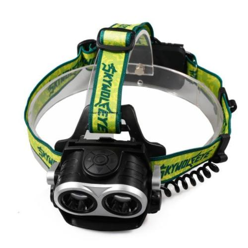 SKYWOLFEYE 8000LM 2X XM-L T6 LED Rechargeable 18650 USB Headlamp Headlight Head Light To ...