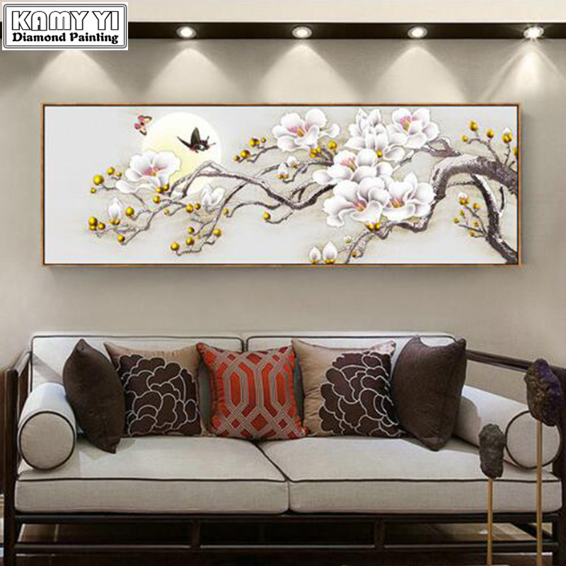Diamond Embroidery Painting Cross-Stitch-Kits New-Arrivals Rich No Flower Magnolia