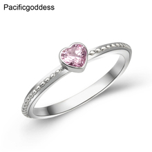 Top heart silver plated zircon ring wedding rings or engagement for wins