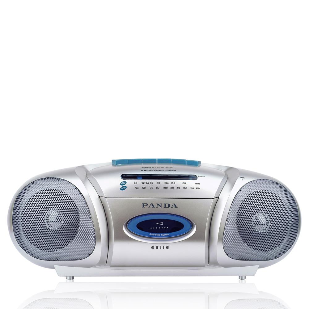 Panda 6311e Tragbare Lehrer Unterricht Recorder Doppel Lautsprecher Schreibtisch Student Englisch Lernen Maschine Kassette Player Recorder Fm Unterhaltungselektronik