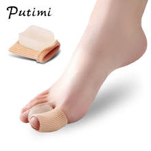 Putimi 2 Pcs Silicone Foot Pads Pedicure Tools Hallux Valgus Corrector for Thumb Bone Orthopedic Toe Bunion Care