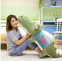 big lovely plush army green crocodile toy stuffed crocodile doll pillow birthday gift about 120cm