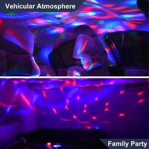 Image 4 - سيارة مصابيح داخلية مصباح للزينة Led صغيرة RGB الملونة مصباح لتهيئة الجو السيارات USB DJ ديسكو المرحلة تأثير أضواء السيارة التصميم