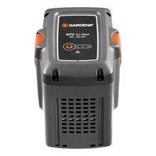 Батарея аккумуляторная GARDENA 09843-2000000 (Сменный литий-ионный аккумулятор 36 В/4.2 Ач, время зарядки ~2.ч.20 мин., индикатор уровня заряда аккумулятора POWER info, масса 1200 г)