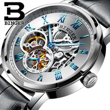 Hot Sale Automatic Mechanical Skeleton Watch Men Steampunk Watches Antique Retro Leather Dropshipping Tourbillon Wristwatches