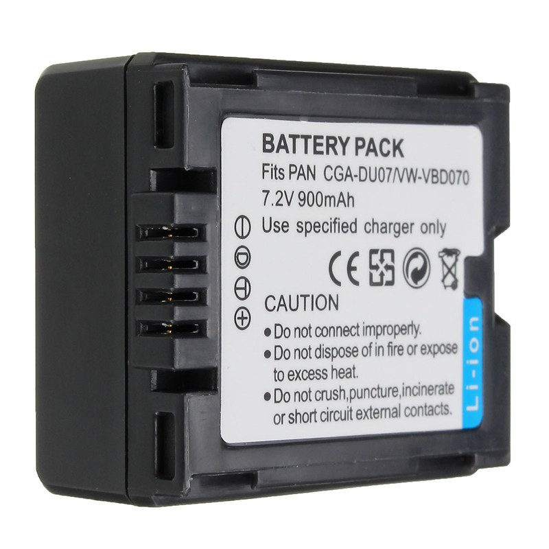 7.2V 0.9Ah CGA-DU07 CGA DU07 Lithium Battery For PANASONIC CGR-DU06 DU07 NV-GS10 CGA-DU12 CGA-DU14 CGA-DU21 GS100K GS17E PV-GS65