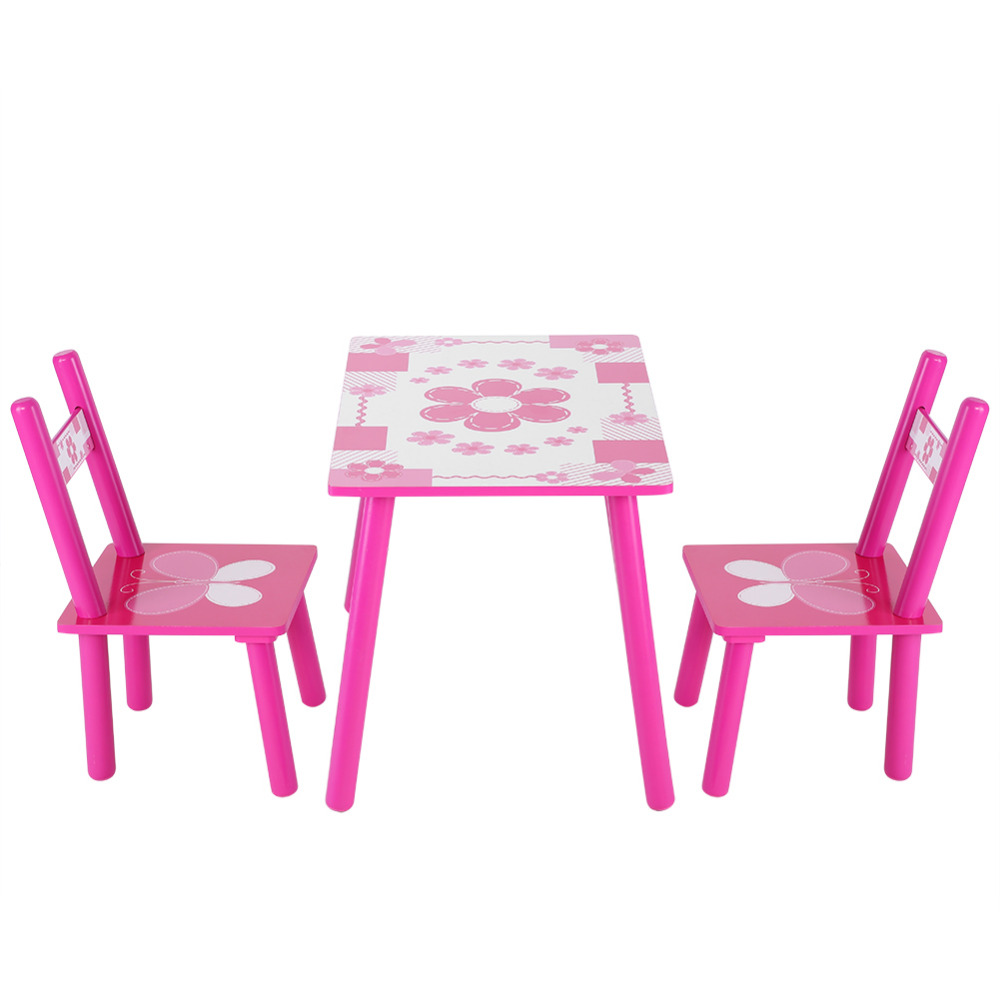 Strange Children Wooden Flowers Kids Table And Chair Childs Playing Gamerscity Chair Design For Home Gamerscityorg