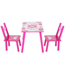 Children Wooden Flowers Kids Table And Chair Childs Playing Games Painting Desk Chair Bedroom Furniture(Hong Kong,China)
