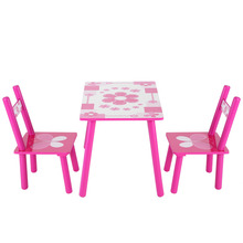 Children Wooden Flowers Kids Table And Chair Childs Playing Games Painting Desk Chair