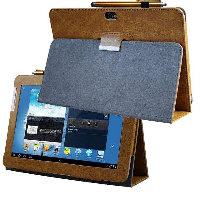 Avanzada de cuero de la pu cubierta caso para Samsung Galaxy Nota 10,1 GT N8000 tablet N8010 N8013 N8020 Flip Folio libro caso de bolsillo