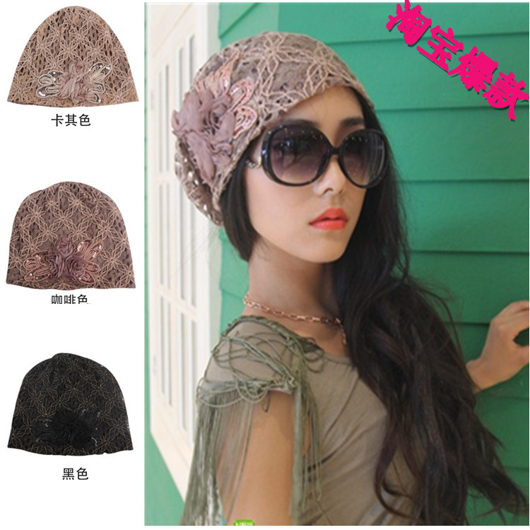 2017 Casual Unisex New Floral Adult Beanie Beanies Korean In Autumn And Winter Baotou Cap Chemotherapy Lace Sleeve Head Pile jaspreet kaur and neeloo singh antileishmanial chemotherapy
