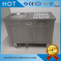 fried ice cream machine 1200W pan fried ice cream machine