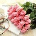 (10 colores) PU fresca Rosa Flores Artificiales Real Touch subió Flores Inicio decoraciones Del Banquete de Boda regalo de Cumpleaños Envío Gratis