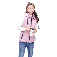 New Women Vest winter women cotton vest white duck down soft warm waistcoat plus size 3XL female outwear brand vest coat