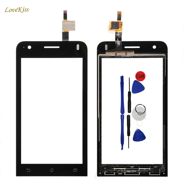 "4.5"" Touch Screen Digitizer Panel Replacement For Asus Zenfone C Z007 ZC451CG ZC451 Touchscreen Sensor Front Glass Lens + Tools"
