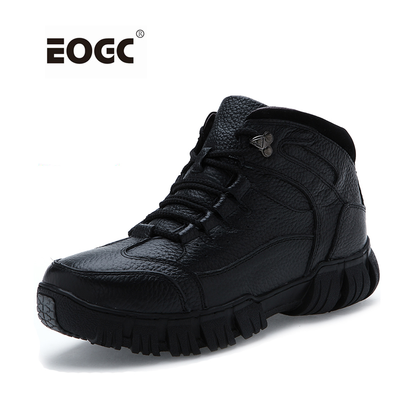 Super Warm Men Boots Genuine Leather Snow Boots Two Style Autumn And Winter Shoes Waterproof Outdoor Men Shoes genuine leather men snow boots new design warm fur winter boots fashion handmade two style autumn and winter shoes men
