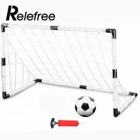 DIY Children Sports Soccer Goals Train Garden Game 2 Football Gate White W/Ball