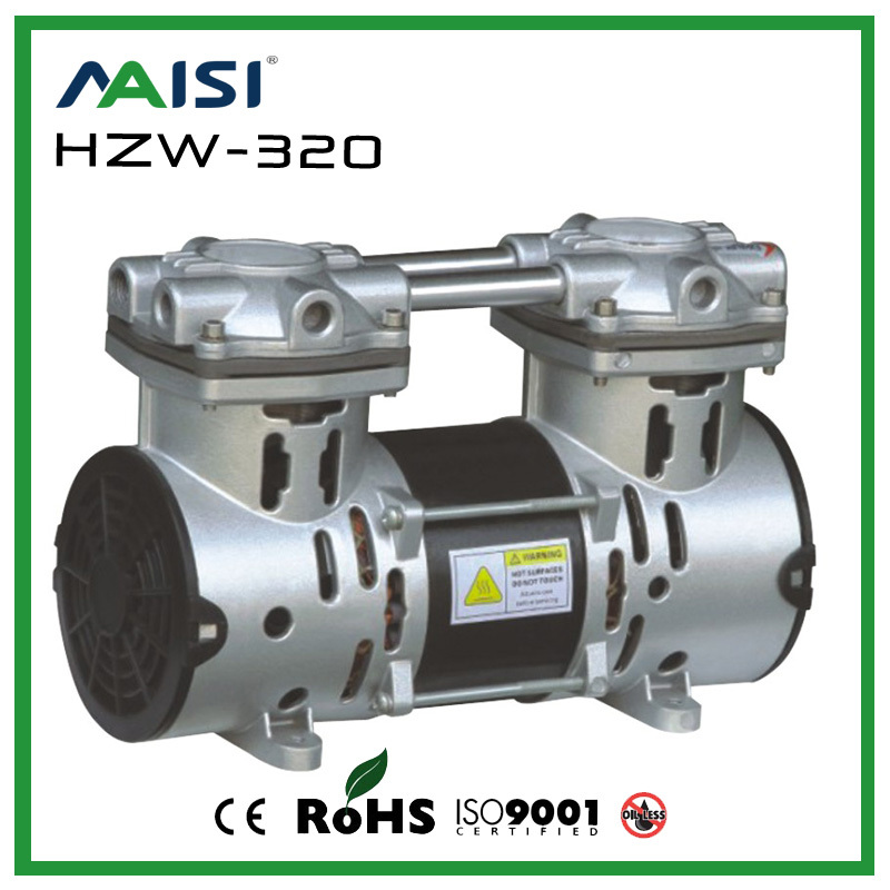 (HZW-320) 110V /220V (AC) 50L/MIN 320 W oil free piston vacuum pump manka care 220v ac 23l min 150 w mini piston vacuum pump silent pumps oil less oil free compressing pump