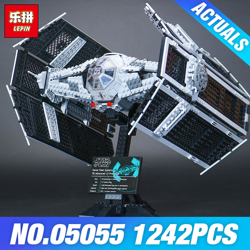 Lepin 05055 Star Plan 10175 The Rogue One USC Vader TIE Advanced Fighter Set Wars Building Blocks Bricks Educational Kids Toys lepin 05127 705pcs star plan series the 75179 tie model fighter set building blocks bricks educational kids toys christmas gifts