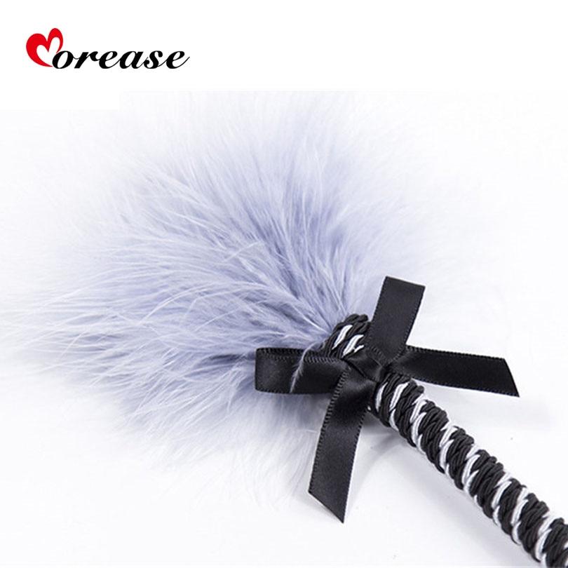 Morease Clit Tickler Feather Whip Sex Toy Spanking Bondage Flogger Erotic Fetish Flirting BDSM Slave Adult